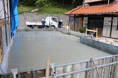 増築基礎コンクリート