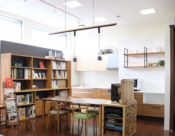 キッチン、システムバス、洗面台などを常設したショールーム