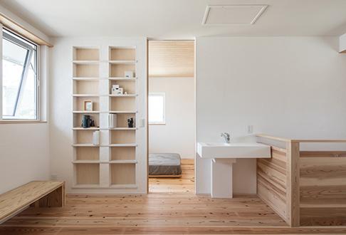 2階は家族だけのプライベート空間として活用。