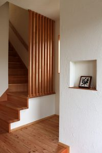 階段格子壁
