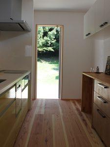 キッチン無垢床