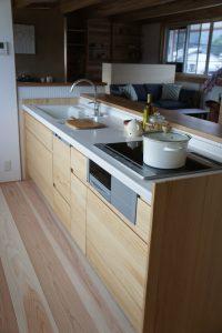 木調キッチン