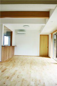 キッチンカウンター木貼