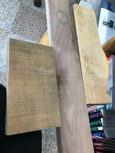 手作り木工時計