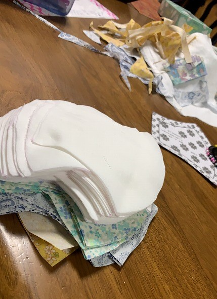 おうち時間手作りマスク